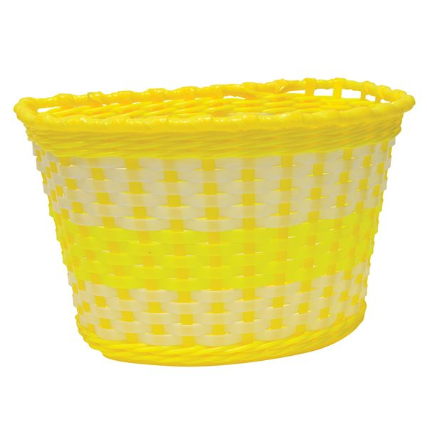 Oxford Junior Woven Basket - Yellow